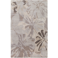 Athena Rug - Grey + Taupe Floral