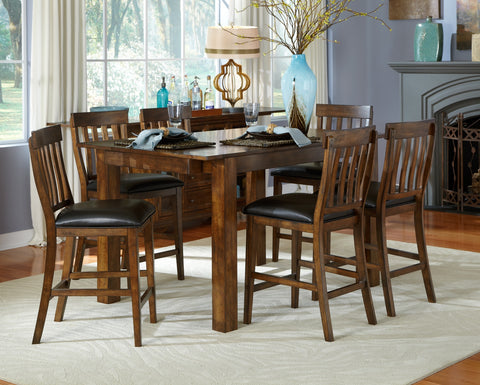 Mariposa Rustic Whiskey Extendable Counter Height Dining Table Only