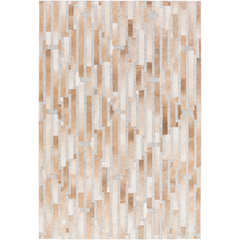 Medora Tan + Gray Hair On Hide Rug