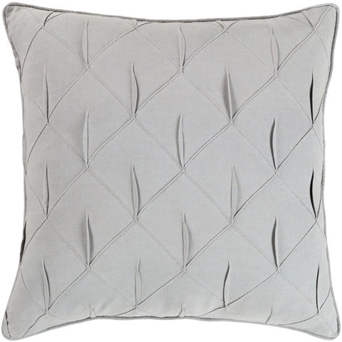 "Gretchen Gray Textured Pillow 20"" x 20"" Down"