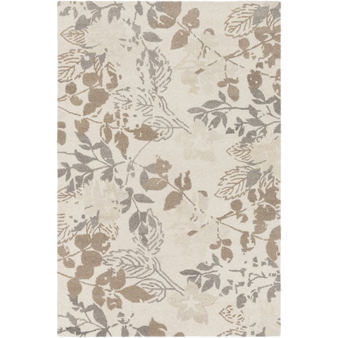 Asheville Cream + Tan Floral Rug [Discontinued]