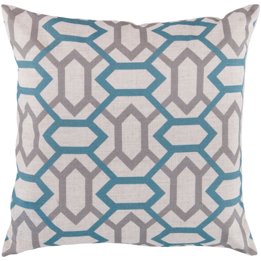 Teal and Gray Geometric Shapes Zoe Pillow Cover Only