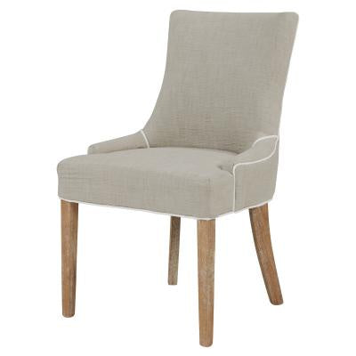 Charlotte Beige Upholstered Dining Chair