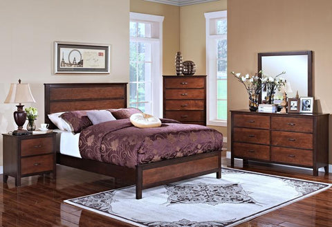 Bishop Chestnut Queen Bed