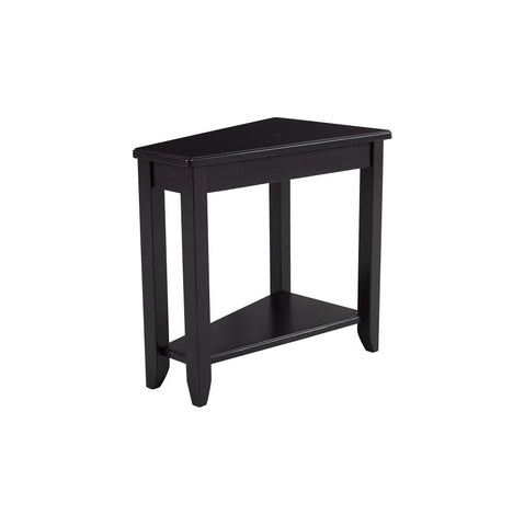 Black Finish Wedge End Table