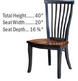 Custom Amish Express Curved Slatback Dining Chair