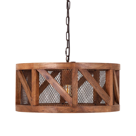 Kennedy Wood + Wire Pendant Light