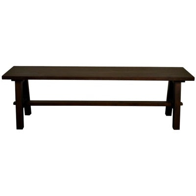 "Bedford Cocoa Glaze 59"" Bench ""A"" Base"