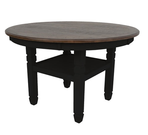 "Prairie Point Black 47"" Round Dining Table"