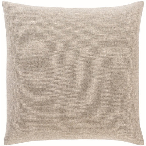"Brenley Taupe Pillow Down 22"" x 22"""