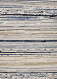 Colours - Sketchy Lines - Indoor Outdoor Blue Rug