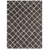 Kodiak Charcoal + Dark Brown Shag Rug