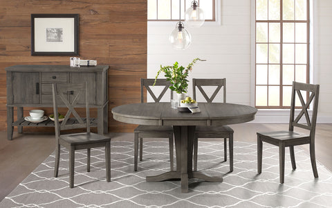 Huron Gray Pedestal Dining Table