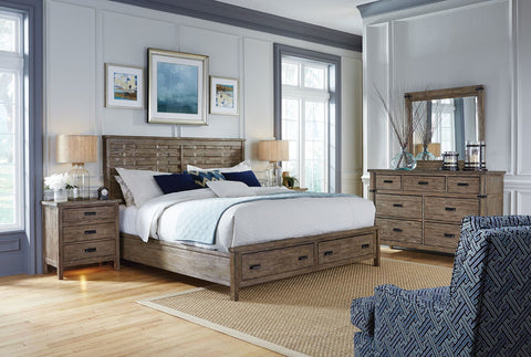 Foundry King Bed With Storage Footboard