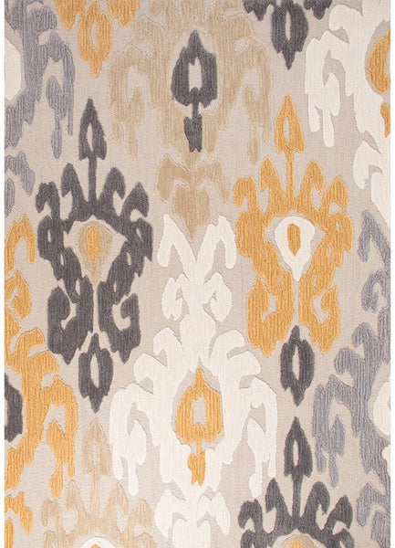 Devine - Aries - Yellow and Grey Rug
