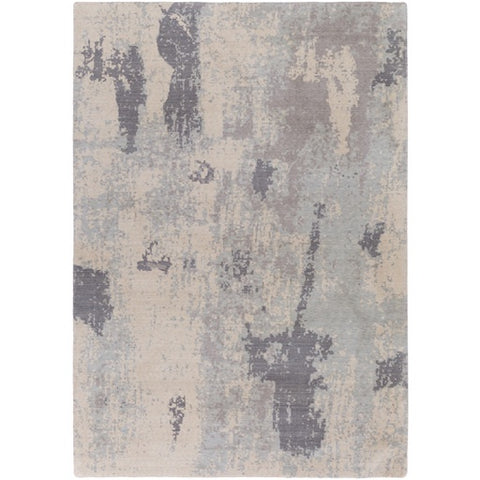 Andromeda Gray + Ivory New Zealand Wool Area Rug [Discontinued]