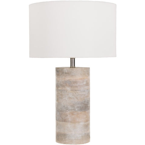 Arbor White Wood Table Lamp