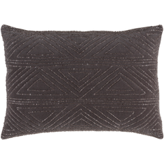 Hira Grey Beaded Lumbar Pillow