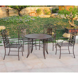 Outdoor Metal Round Dining Set