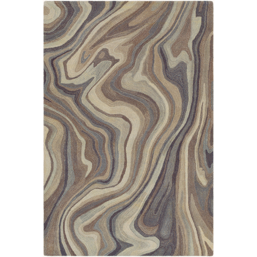 Mountain Gray with Brown and Cream Swirls