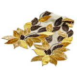 Fall Leaf Neutral Table Runner