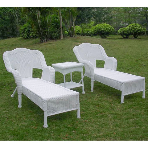 Maui Wicker/Steel Chaise Lounge Set