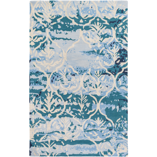 Pacific Teal Ivory Blue Rug