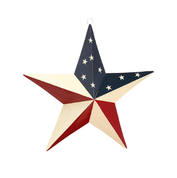 Patriotic Star Metal Wall Decor