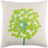 Agapanthus Green Linen Pillow 22x22