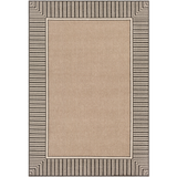 Alfresco Brown Bordered Outdoor Rug