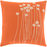 Abo Modern Orange Flower Pillow 20x20