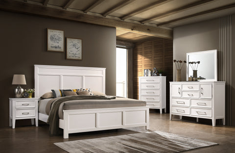 Andover White Queen Bed