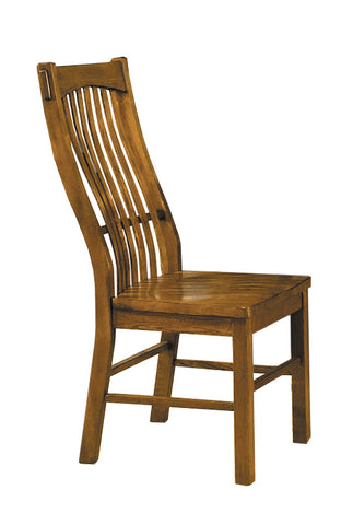 Laurelhurst Rustic Oak Slatback Side Chair