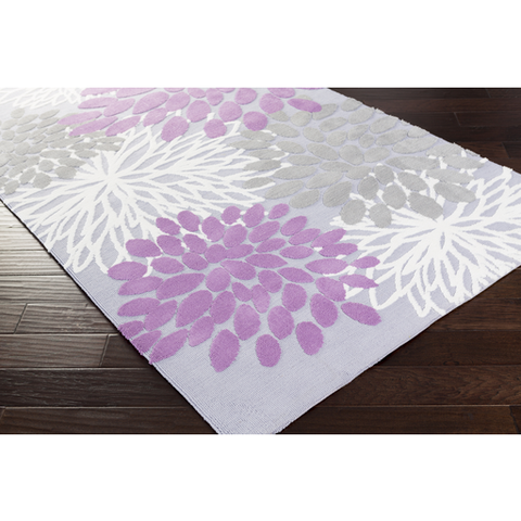 Abigail Rug - Purple Gray