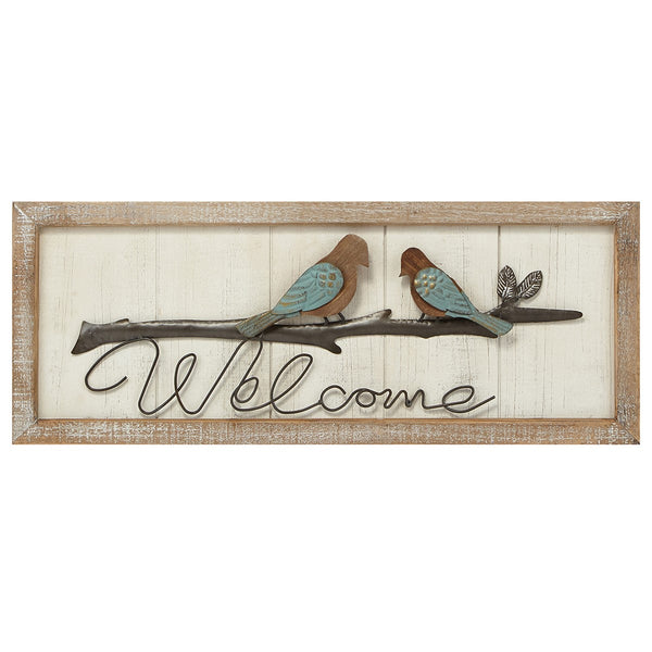 Birds of a Feather Welcome Sign