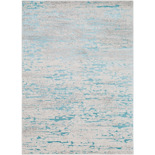 Glimmer Light Gray + Turquoise Rug