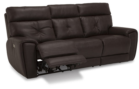Aedon Power Reclining Sofa With Power Headrest & Lumbar