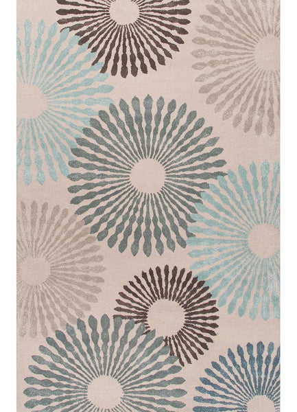 Contemporary - Plaza - Blue/Taupe Rug