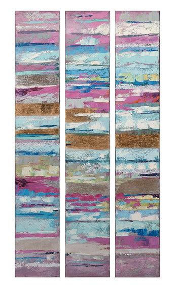 Fascination Triptych Oil Painting Set of 3