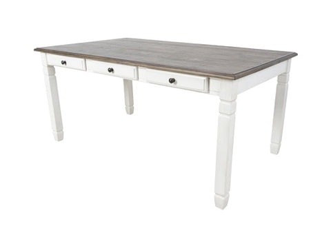 Prairie Point White 6 Drawer Rectangle Dining Table
