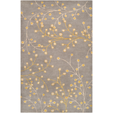 Athena Grey and Mustard Vine Rug