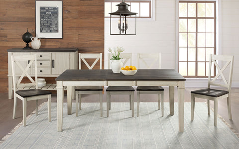 "Huron Cocoa Chalk Dining 42"" Table w/ 18"" Leaf"