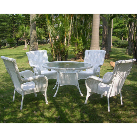 Outdoor Wicker Round Dining Set