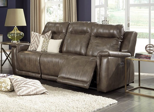Riley Power Reclining Sofa With Power Headrest