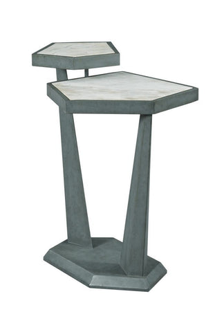 Modern Synergy Marble Chairside End Table