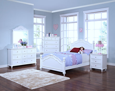 Megan White Twin Bed
