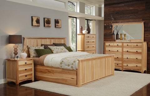 Adamstown Hickory + Walnut King Storage Bed