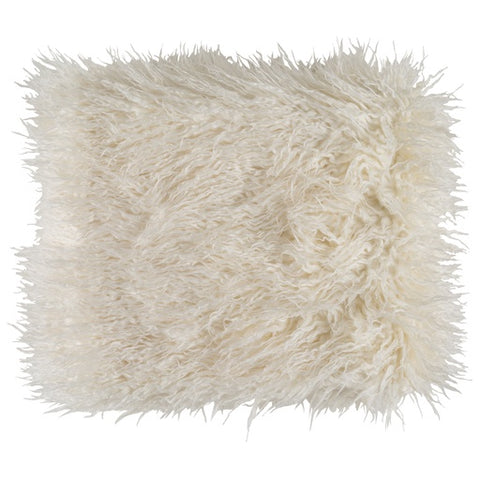 Kharaa Cream Faux Fur Throw
