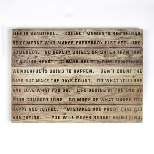 Life is Beautiful Wood Print