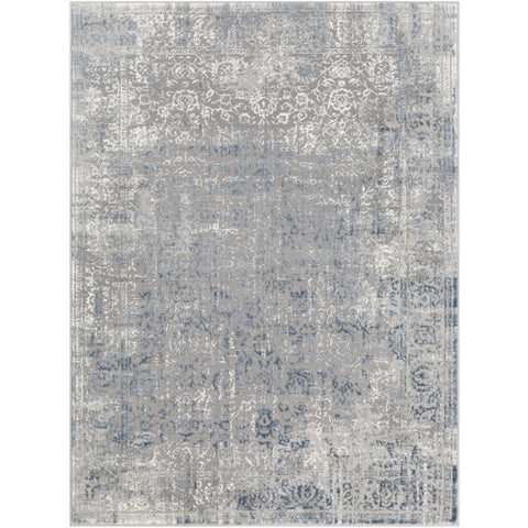 Katmandu Gray + Blue Design Rug